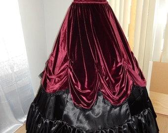 Elizabeth overskirt and gloves