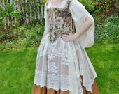 Ivory Rose Lace Over Skirt