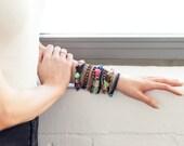 "Multi Stone & Multi Chain Colorful Bracelet - ""Giles"""