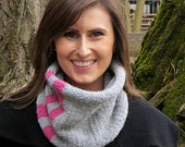 PDF Knitting Pattern, Knitted Striped Cowl, Neck Warmer, Scarf, Instructions, PDF Pattern, Instant Download