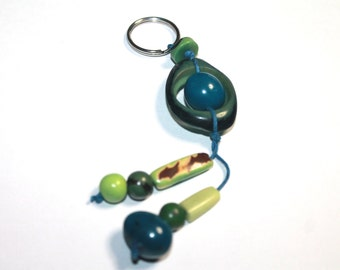 Tagua and Acai Seed Keychain (Seeds from the Rain Forest) Boho - Bohemian/ Teacher's Gift Odea