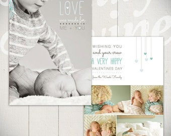 Valentines Day Card Template: Me + You B- One 5x7 Baby Valentine Card Template
