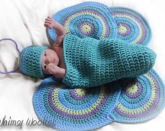 Crochet Photo Prop Pattern: Newborn, Crochet Hat, Cocoon & Wings,  'Lil' Luv Bug'