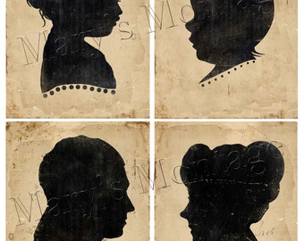 Mini Silhouette Portraits, 8.5x11, Download, Printable
