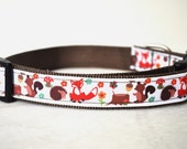 Dog Collar - Forest Friends-  50% Profits to Dog Rescue
