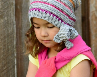 CROCHET PATTERN - Girls Night Out - crochet slouchy hat pattern, crochet hat pattern (Toddler Child Adult sizes) - Instant PDF Download
