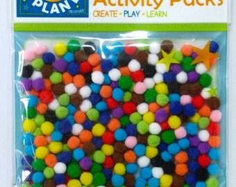 100 x 7mm Pom Poms