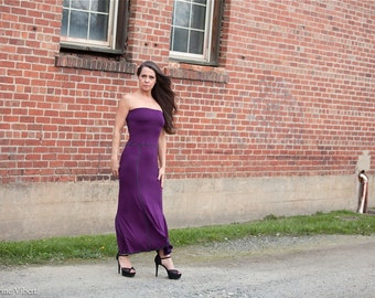 Missy Maxi Tube Dress or High Waisted Skirt / Two in One Fitted Strapless Dress, Pencil Fit Mermaid Flare, Custom Color / Formal, Casual