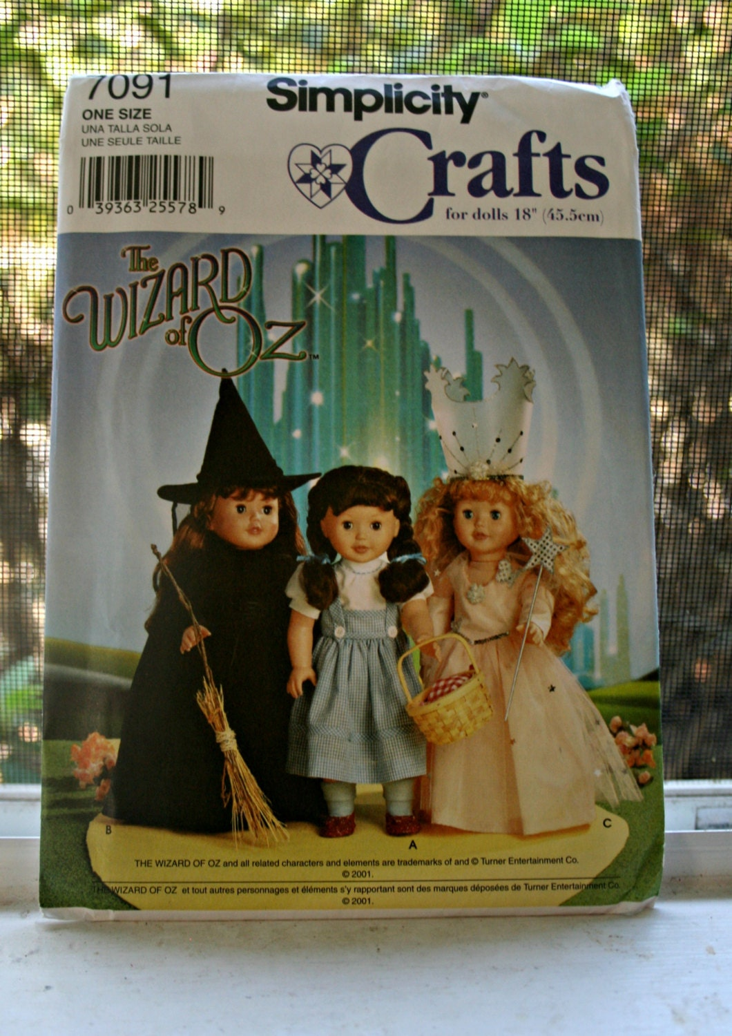 Wizard of Oz American Girl Doll Pattern Simplicity 7091 UNCUT