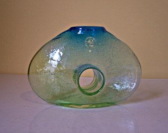 Vintage Art Glass Vase  Hand Blown  Margies Garden