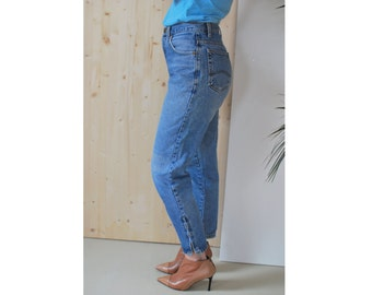High Waisted Jeans with Ankle Zip VINTAGE 80's mom jeans CARRERA