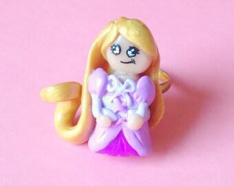 Rapunzel Ring, Kawaii, Fairytale, Chibi, Cute, Polymer Clay