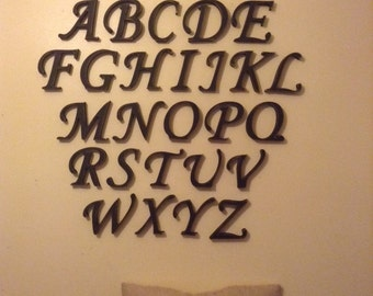 Full Wooden Alphabet - Hand Painted Wooden Letters Set - 26 letters - 10cm high, any colour