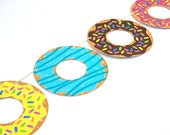 Doughnut Garland 4 or 8 Pieces