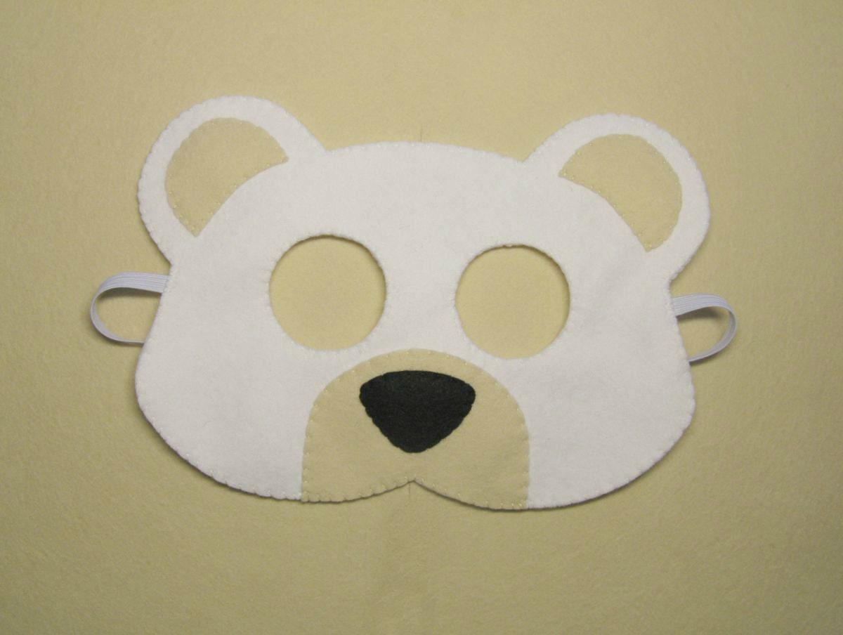 white bear mask handmade ice polar bear for kids teens boys