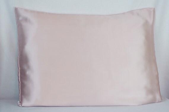 Silk Pillowcase Envelope Closure Light Pink Mulberry Silk