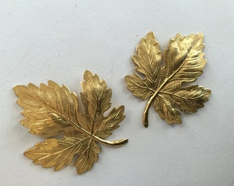 Large Golden Grape Leaves (2pc)