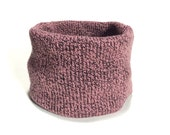 Large Mauve Knit Dog Neck...