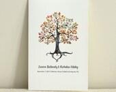 The Autumn Folk Tree / Wedding Ceremony Program / Order of Service / DIY Printable PDF Template