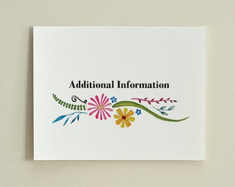 BLOOM Customizable Wedding Enclosure Card - PDF template - Information, Directions, Wishing Well