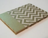 Large Chevron Gold and Cream Guest Book: Art Deco Wedding Guestbook