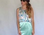 SALE: Size Small Floral Front Pleat Cropped Top