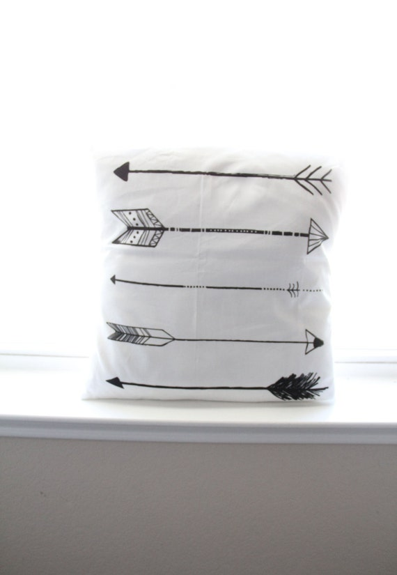 Unisex nursery arrows : ... arrow pillow cover, tribal nursery decor, gender neutral, baby boy or