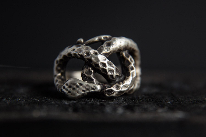 snake ring sterling silver snake ring snake jewellery knot