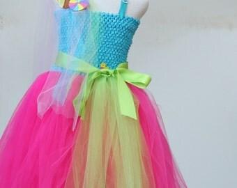 Turquoise Fuchsia dress - Candyland Dress  - Candy theme dress - Katy Perry Candyland dress - Katy perry costume