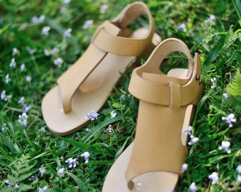 Sandal Natural Leather