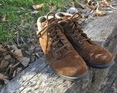 Vintage Genuine Suede Ankle Boots