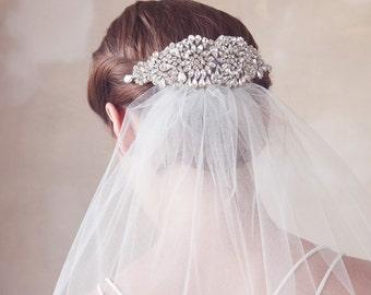 Crystal Bridal Headpiece, Wedding Hair Comb, Crystal Bridal Hair Accesories, Art Deco, Great Gatsby, Wedding Hair Piece - Style 308