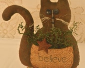 Primitive, Cat, Spring Decor, Summer Decor, Home Decor, shelf sitter