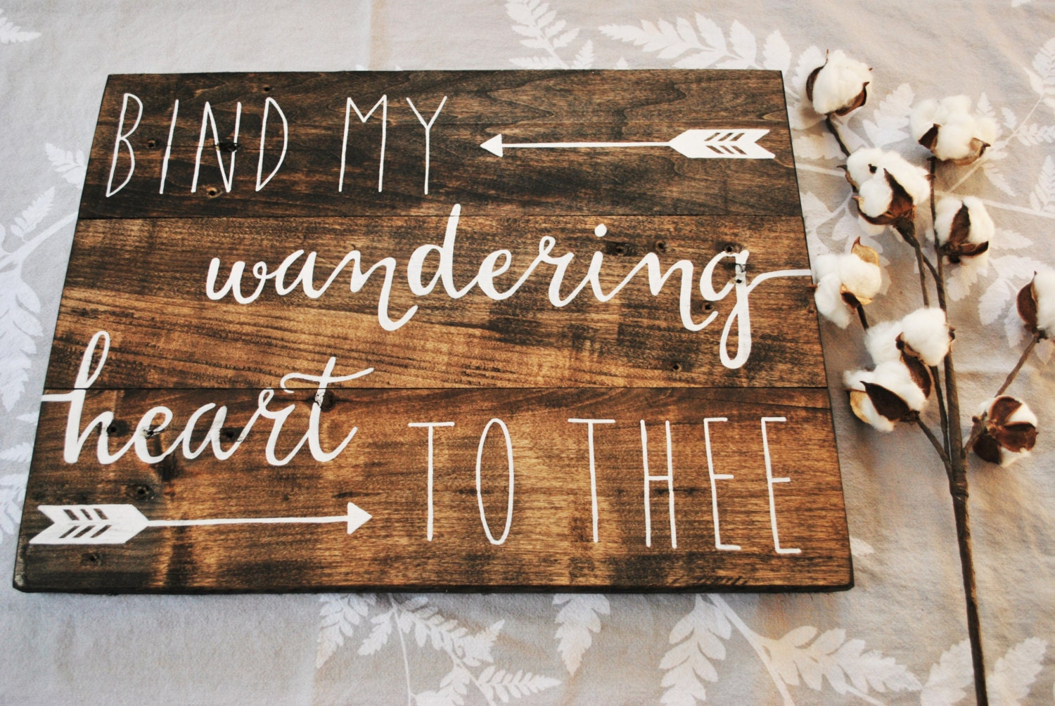 Bind my wandering heart to thee wood sign bible verse wall zoom amipublicfo Image collections