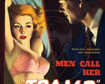 Men Call Her Tramp - 10x14 Giclée Canvas Print of a Vintage Pulp Paperback Cover
