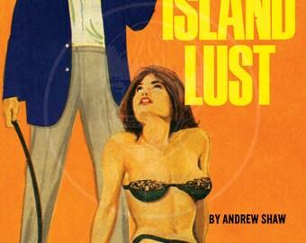 Long Island Lust - 10x15 Giclée Canvas Print of a Vintage Pulp Paperback