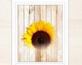 Sunflower wall art, sunflower wall decor, sunflower decor, printable wall art, rustic decor, rustic wall decor, sunflower print, sunflowers