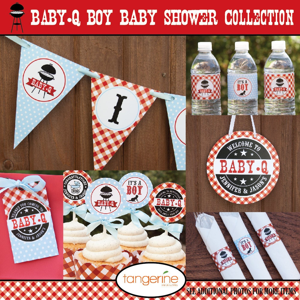 Baby Shower Decoration Packages : Bbq baby shower decorations package babyq by