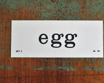 Vintage Flash Card egg