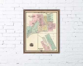 "Map of Eau Claire - Map of Medford  (Wis.) - 16 x 19.5 "" Print"