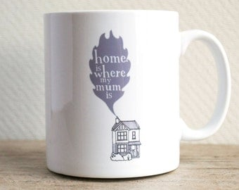 Home Is Where My Mum Is Mug - gift for mum - Mother's Day gift - birthday present for Mum