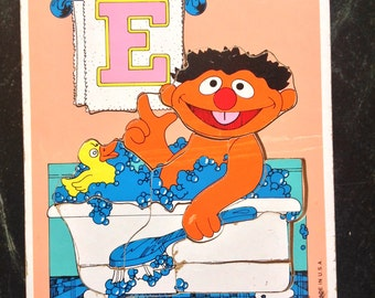 Playskool ERNIE 1979 MUPPPETS 12 piece Puzzle- Sesame Street