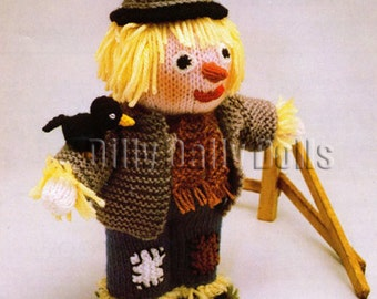 Anne Carol Creations Woolly Wotnots No 23 THE SCARECROW Toy Doll Ornament Knitting pattern
