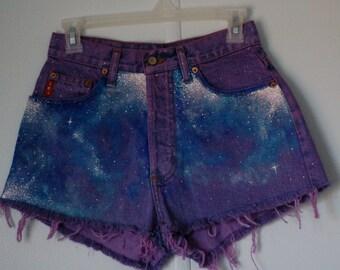 Purple Galaxy Shorts