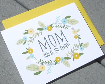 Bestest Mother's Day Card, Floral