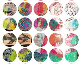 Art Journaling Mixed Media Stickers 2 - Round