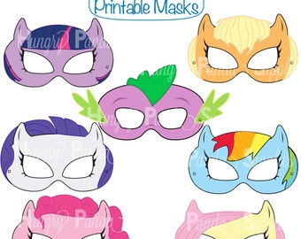 Pony Printable Masks, pony mask, horse mask, girls costume, pony party, little pony, pony costume, horse costume, dragon mask, pony girl