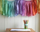 Mini Gypsy Garland. Torn Fabric Banner. Nursery Decor. Child's Bedroom. Colorful Party Decor. Bright Garland. by untoldimprint on Etsy