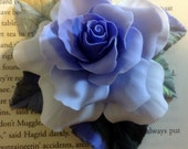 Lilac Rose Brooch - Entirely Handmade with Clay