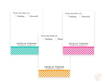 "Personalized MOM NOTEPADS (5.5"" x 8.5""), Candy Stripe - Printed Pads by Libby Lane Press"